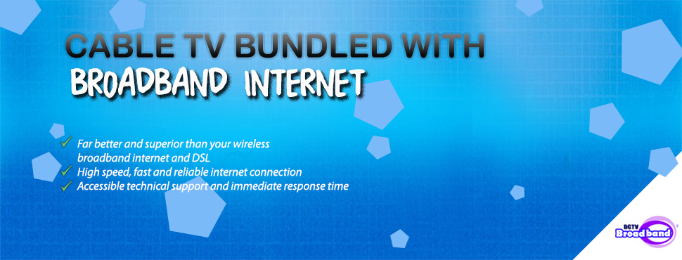 Cable TV bundled with broadband internet